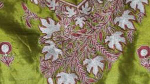 Tussar Suit – Embroidered