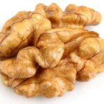 Kernel of walnut in closeup